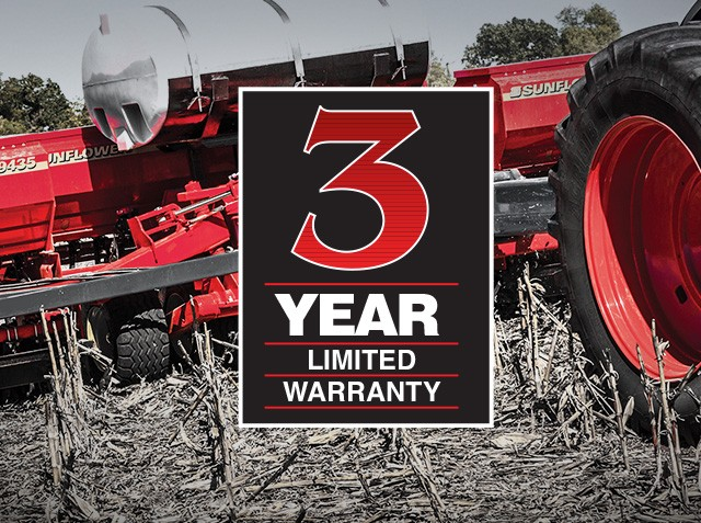 Sunflower 3 Year Limited Warranty